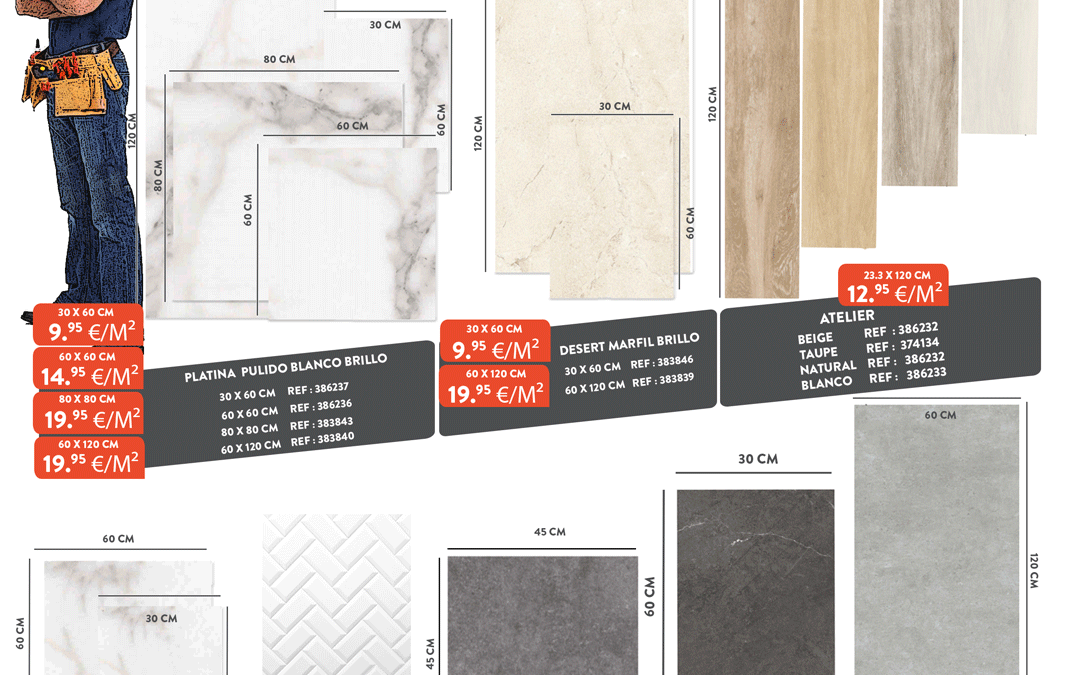 Promo |Assortiment de carrelage