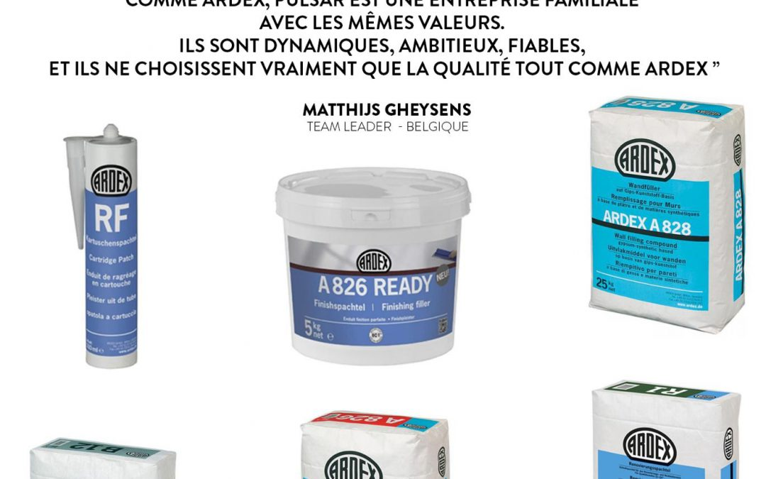 ARDEX se place en tant que leader