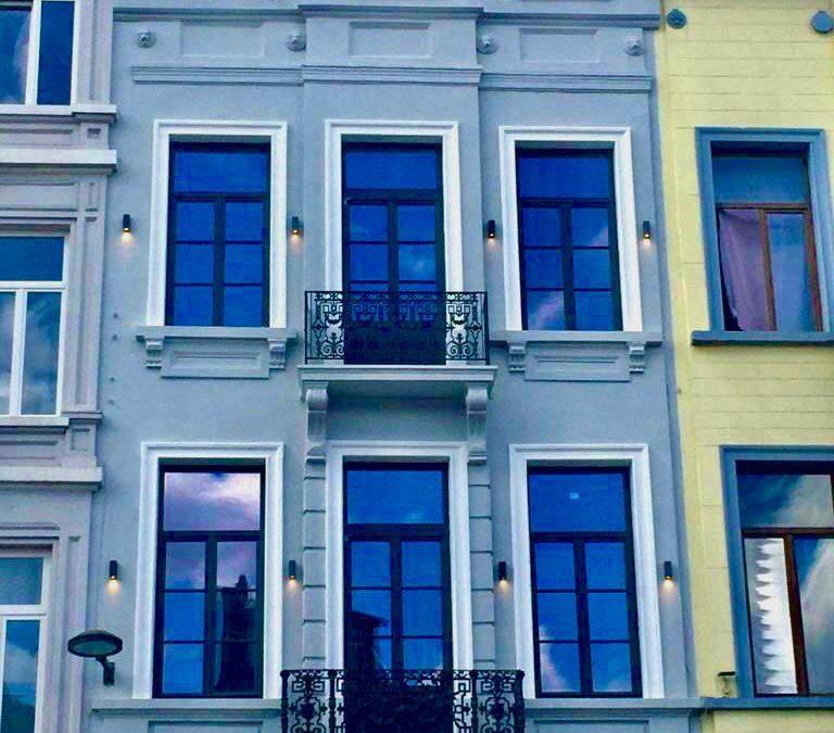 🏗Rénovation complète d'une façade dans le centre ville de Bruxelles🏙