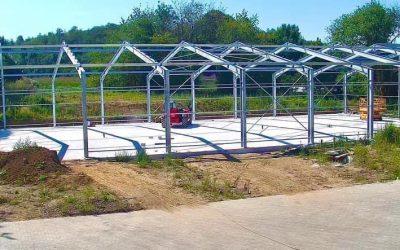 Construction d'un nouvel entrepôt de stockage de 1500m2